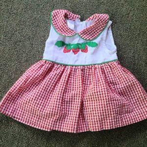 Nursery Rhyme strawberry checkered dress